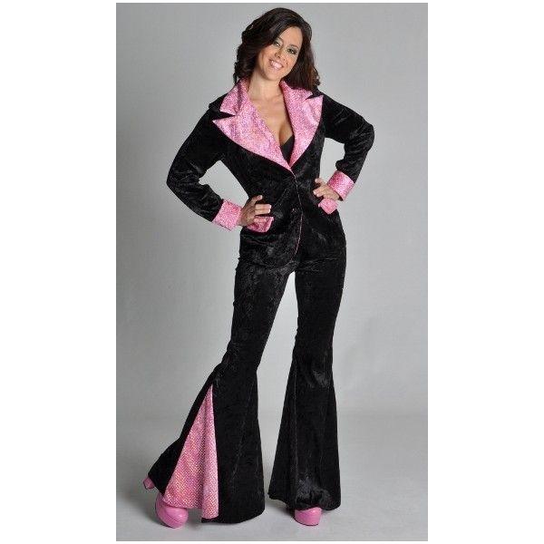 costume disco femme deluxe d guisement disco adulte noir rose paillettes sequin chic costume. Black Bedroom Furniture Sets. Home Design Ideas