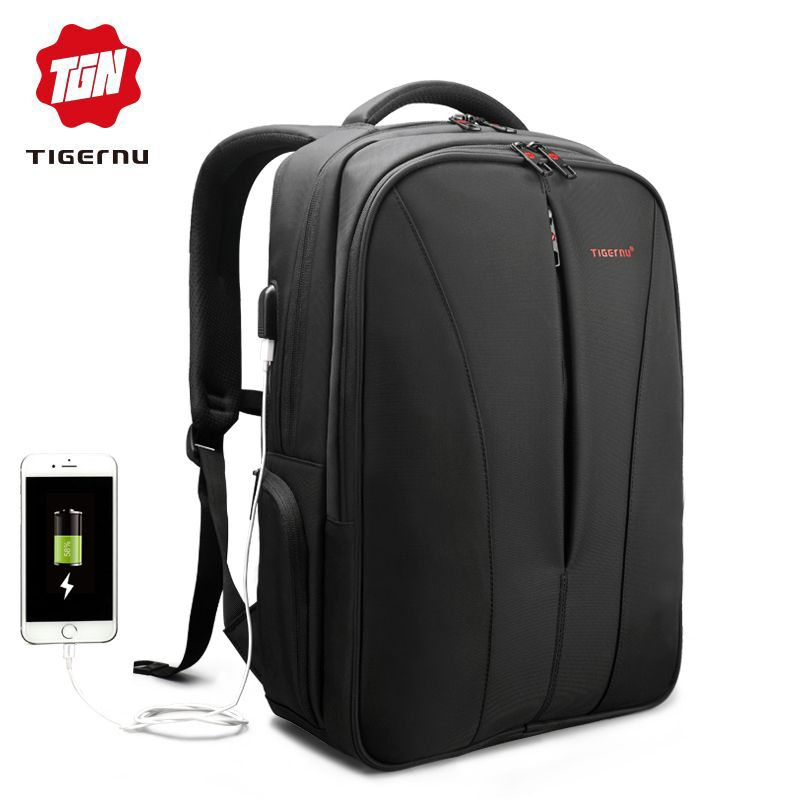 2018 Tigernu New waterproof usb charge 15.6inch laptop backpack men  backpacks for teenage girls summer 5ddf2da09995d