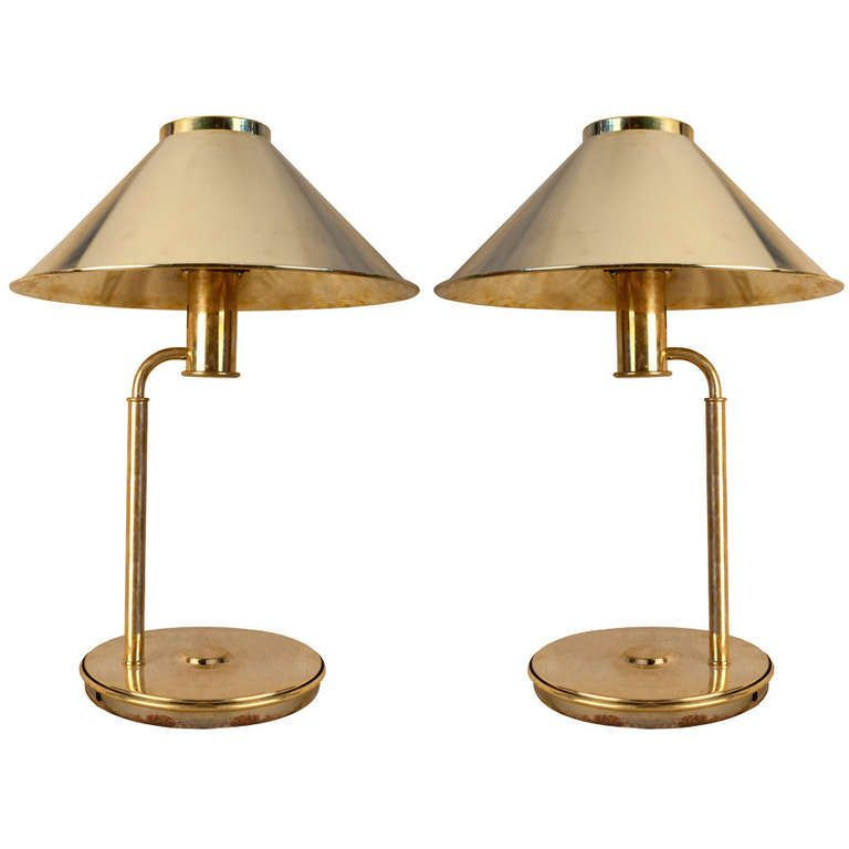 Marvelous Pair Of Nautical Antique Brass Table Lamps