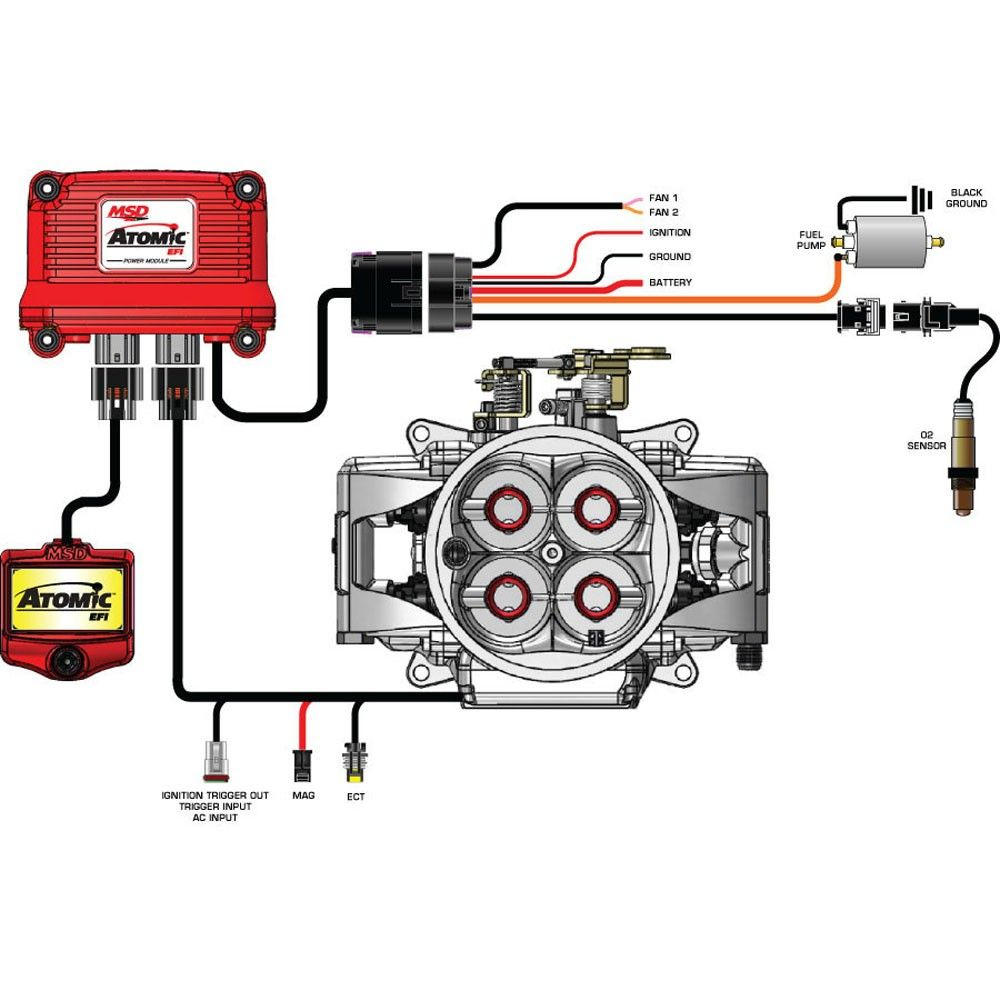 Msd Efi Fuel Pump Kit High Horsepower Atomic