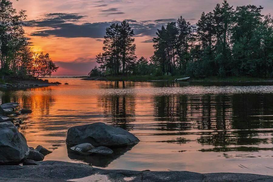 Lago Ladoga,Valaam, República de Karelia(Rusia).
