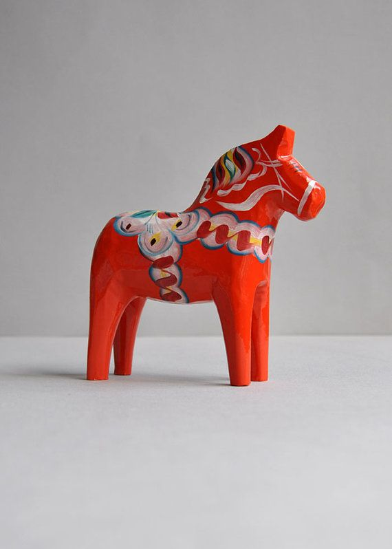 Swedish Dala Horse  5 by MisterTrue on Etsy, $32.00