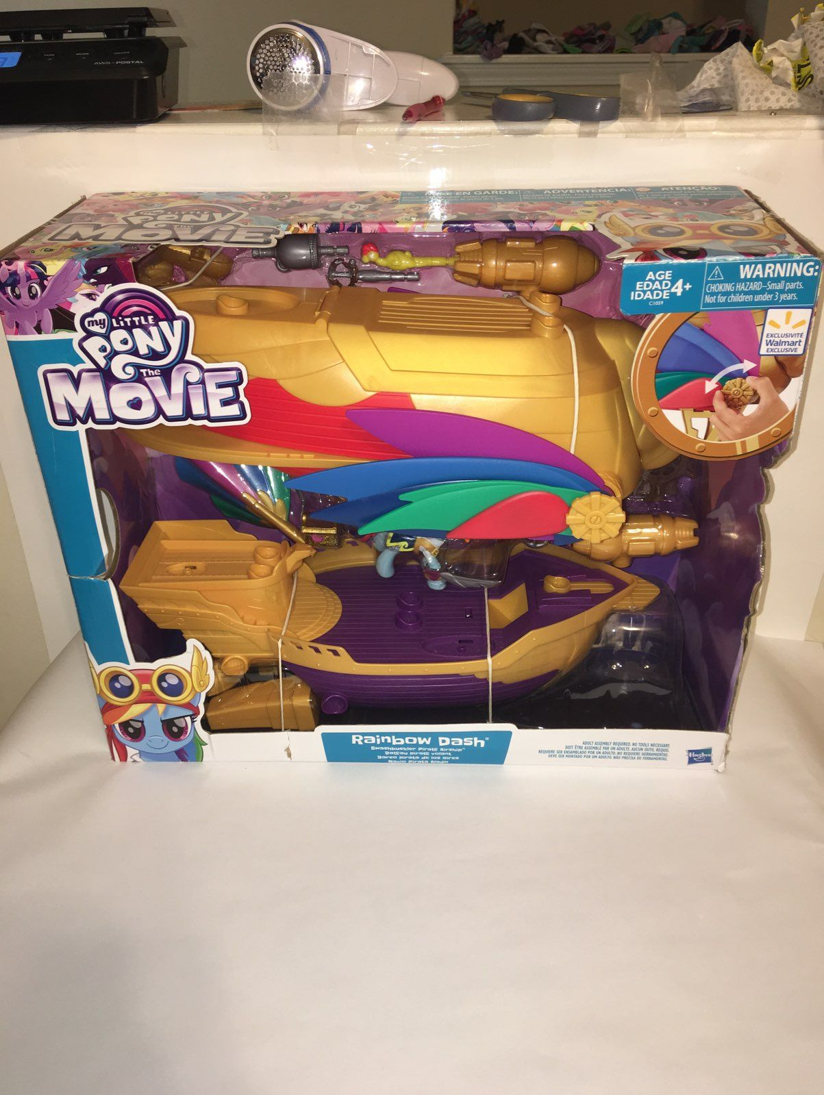 The Movie Swashbuckler Pirate Airship My Little Pony Rainbow Dash