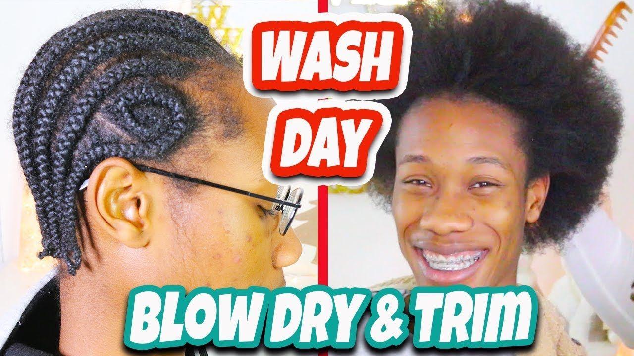 My Son's Wash Day Braids Takedown Shampoo and Trim 6