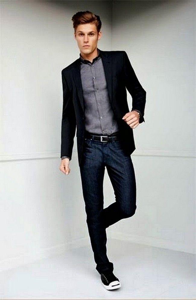 mens green jeans blazer - Pesquisa Google | Moda ocasionais para ...