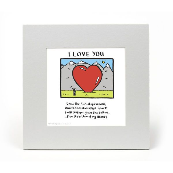 Edward Monkton I Love You Limited Edition Fine Art Print