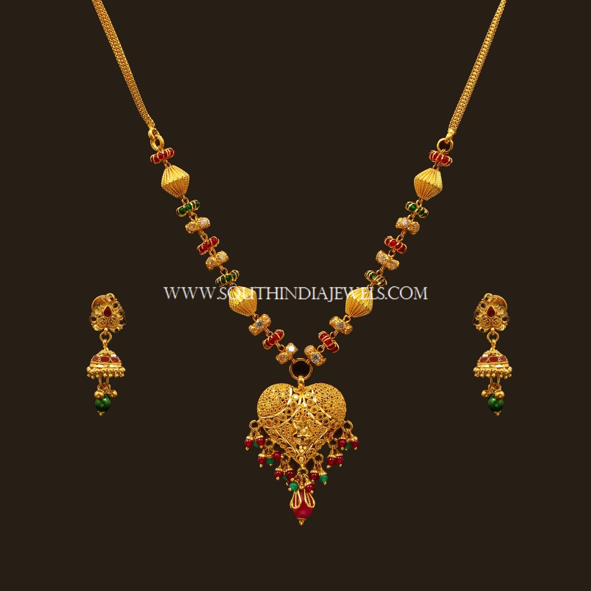 Gold necklace designs with price in rupees jewelry gallery - Latest Gold Necklace Set Designs With Price