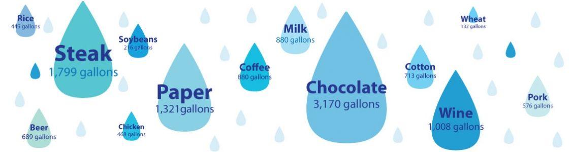 Water Footprints Water Footprint Water Facts Beer Chicken Water footprint calculator worksheet