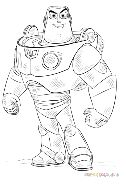 how to draw buzz lightyear step by step drawing tutorials for kids and beginners