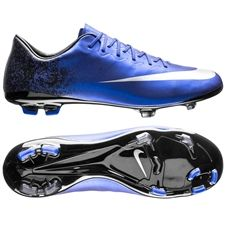 f3766bde4 Nike Mercurial Vapor X CR7 FG Youth Soccer Cleats (Deep Royal Blue Racer  Blue Black Metallic Silver)