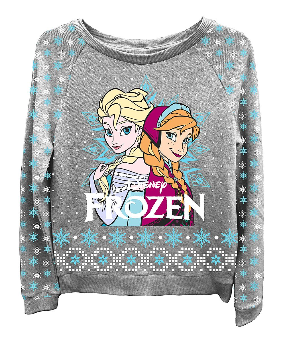 Gray Frozen Anna Elsa Sweatshirt Women Zulily Svitshot Zhenskie Bluzy Sportivnaya Odezhda [ 1201 x 1000 Pixel ]