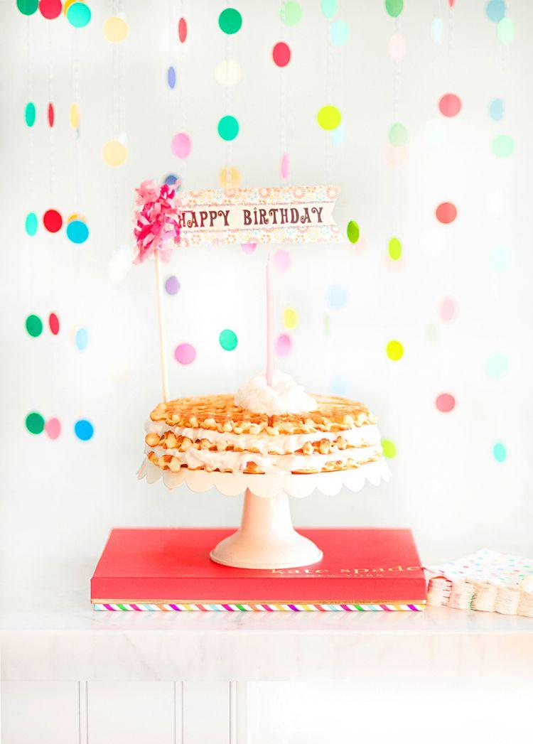 Birthday Waffle Cake, so fun and easy | mysplendidliving.com  #mysplendidliving