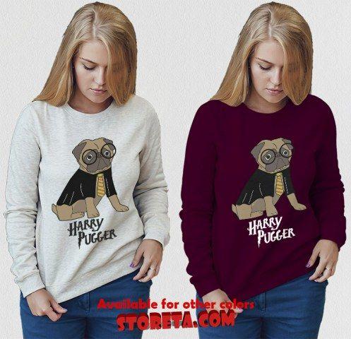 cool Harry Potter Pugger Harry Pugger Sweatshirt for Adult Crewneck Sweatshirt, Unisex Sweatshirt for Adult Crewneck Sweatshirt, Unisex Sweatshirt