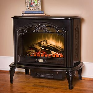 Dimplex Celeste Black Electric Fireplace Stove With Remote Control