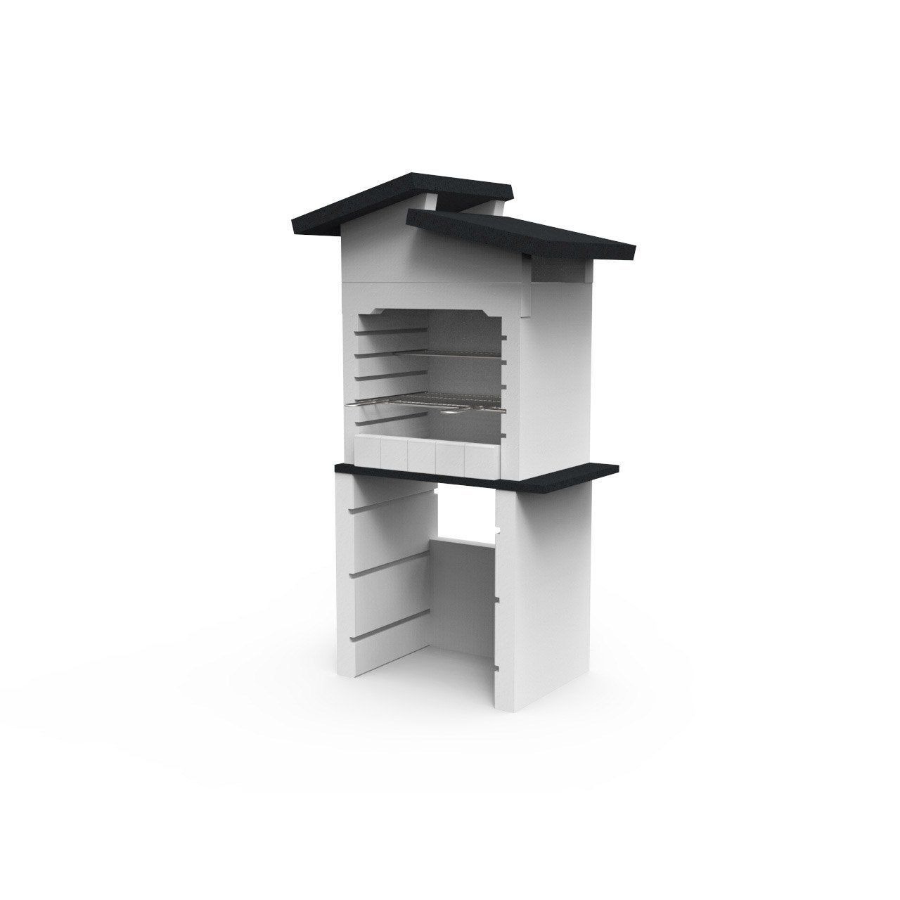 Barbecue En Beton Blanc Bbq Isabelle L 96 X L 60 X H 167 Cm Leroy Merlin Barbecue En Beton Beton Blanc Idees Barbecue