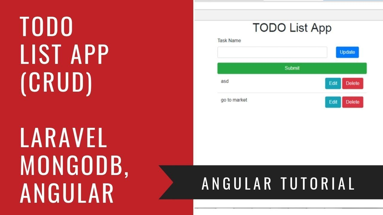 Angular 6 Laravel Mongodb How To Build A Crud Todo List App