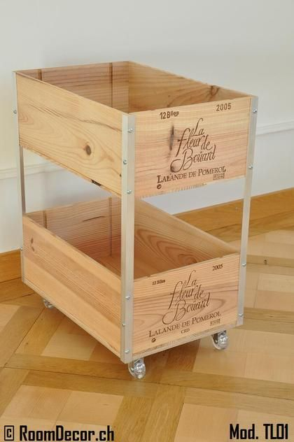 trolley aus weinkisten mod tl01 diy mit weinkisten pinterest obstkisten regal. Black Bedroom Furniture Sets. Home Design Ideas