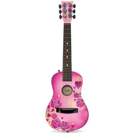 First Act Discovery Designer Acoustic Guitar Pink Stencil Rose Walmart Com Ukulele Art Acoustic Guitar Guitar