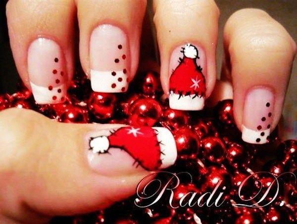 70+ Festive Christmas Nail Art Ideas - 70+ Festive Christmas Nail Art Ideas French Nail Art, French