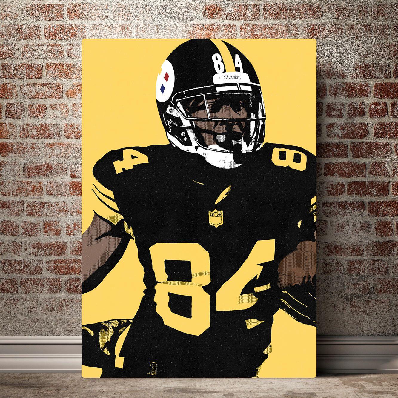 Pittsburgh Steelers Canvas - Antonio Brown - Pittsburgh Steelers Art ...
