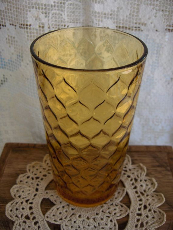 Vintage 1970s Anchor Hocking Amber Glass by virginiasvignettes, $15.00