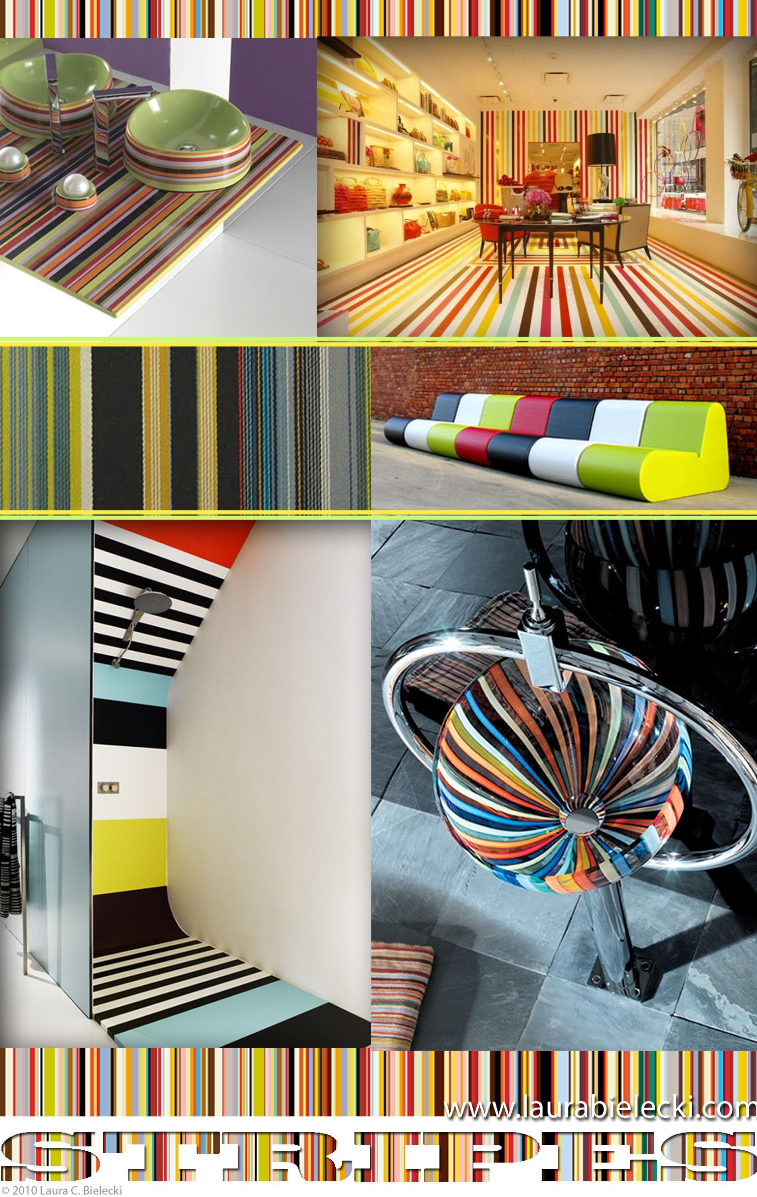 Interior Design II Bold Stripes, via  @Laura Bielecki  click for more #HomeDecor details