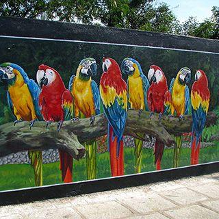 Park / Bahçe Duvar Resmi Boyama Örnek