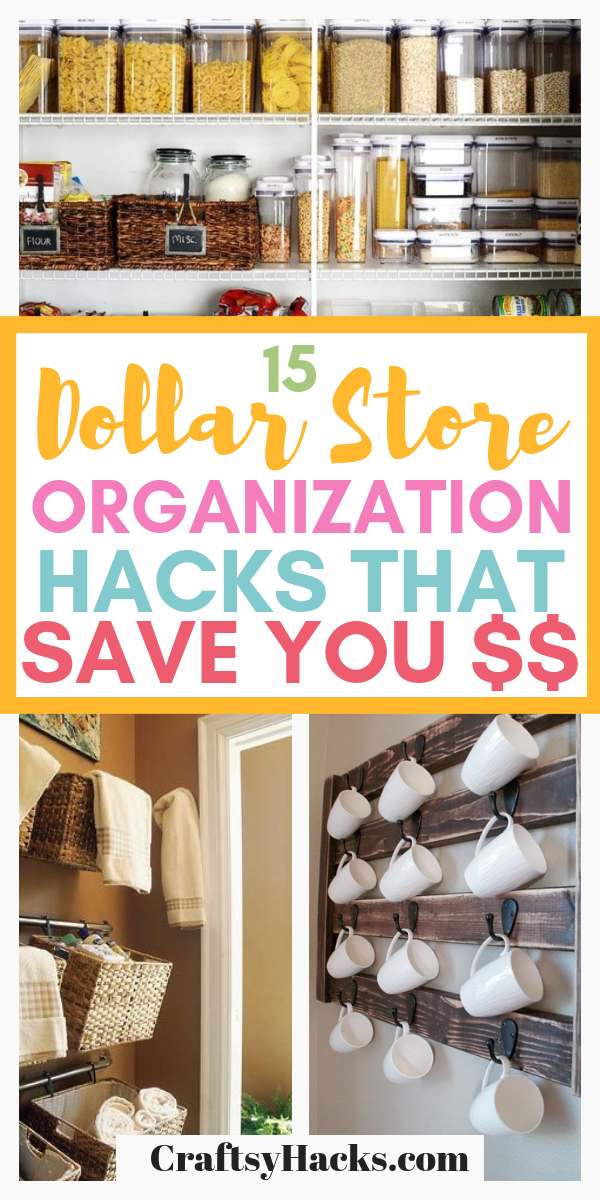 15 Dollar Store Organization Hacks That Will Save You $$ images