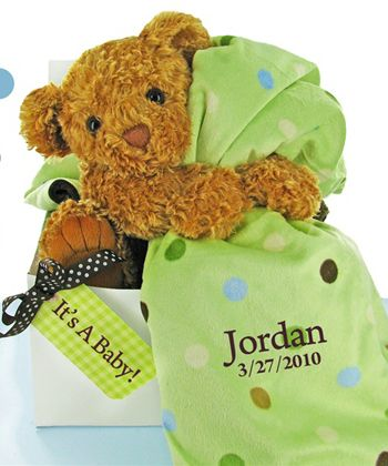 Bear essentials gift set green httpfavorfavorbabyp personalized baby blankets baby essentials by stork baby gift baskets negle Images