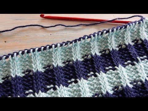 How To Crochet Tunisian Simple Stitch and Knit Stitch - YouTube ...