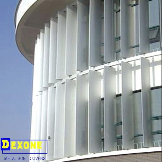 Aluminum Vertical Louvres On Curved Wall Google Search