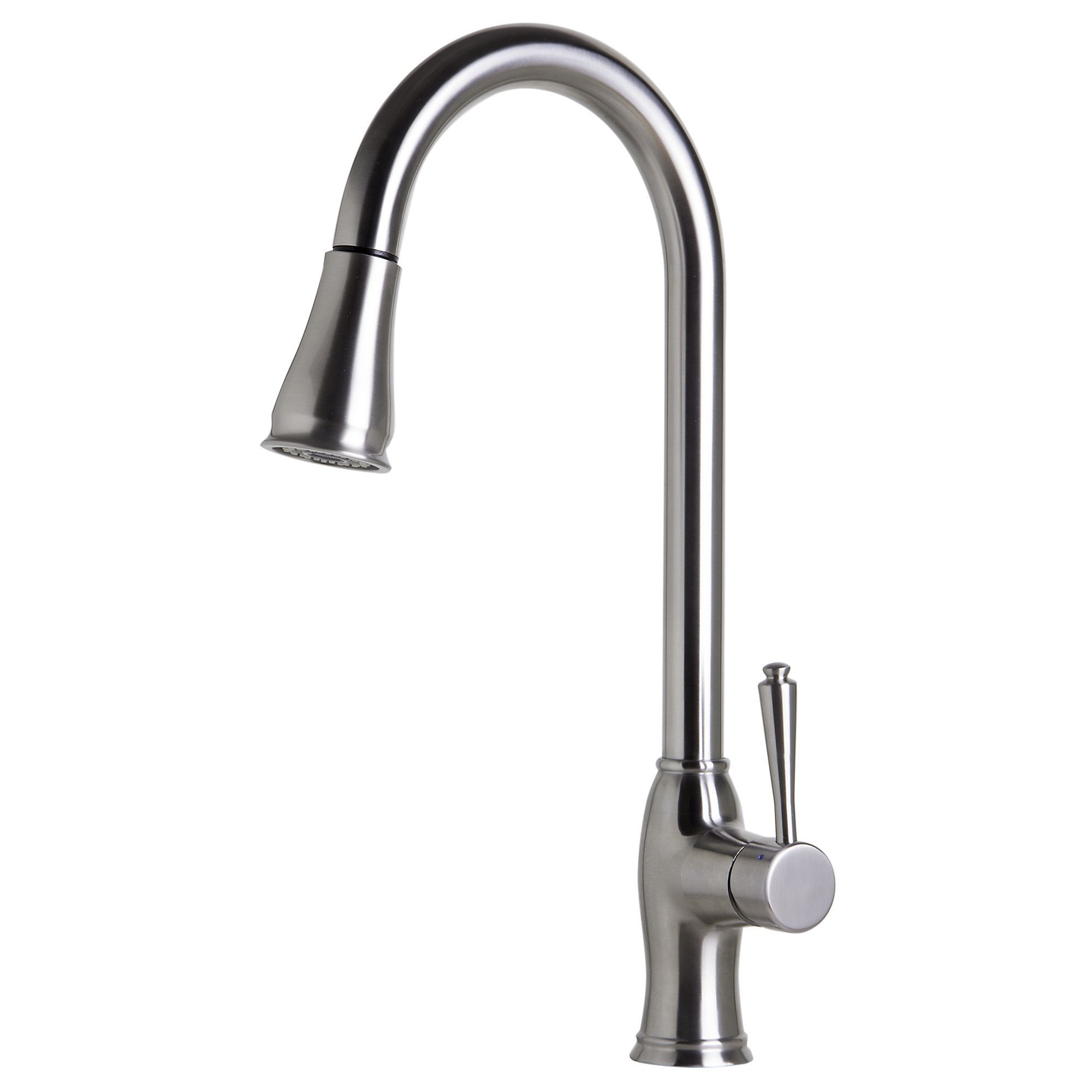 Alfi abbss traditional brushed pull down kitchen faucet
