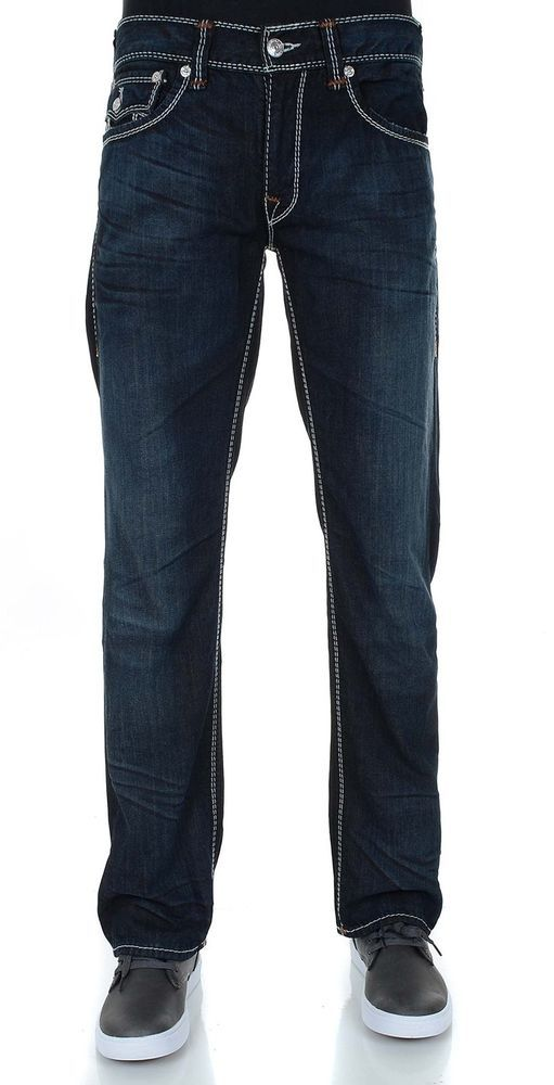 True Religion Men's Mega T Flap Pocket Straight Leg Jean NWT $348 #TrueReligion #straight