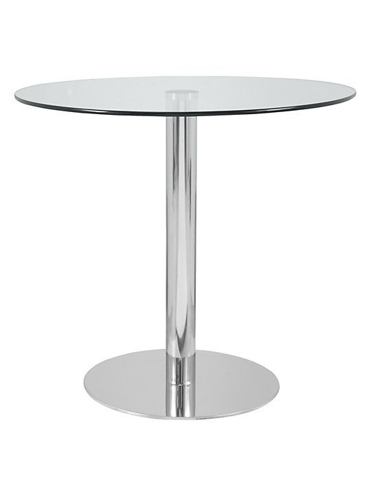 13e1a339cbd John Lewis   Partners Enzo 2-Seater Round Glass Top Dining Table ...