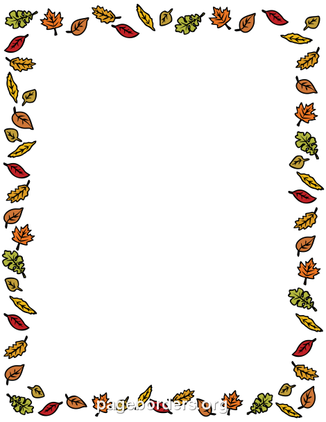 Crazy image intended for free printable fall borders