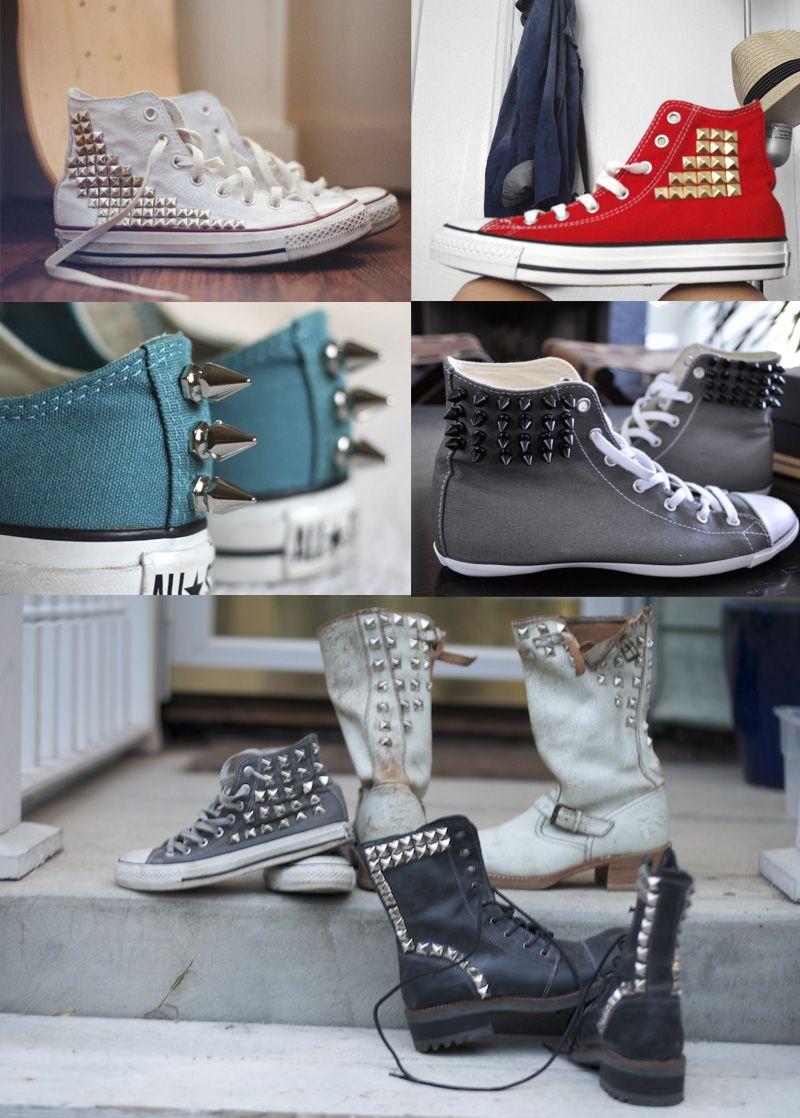 Pin by Mai Spy on DIY + Crafts | Studded converse, DIY ...