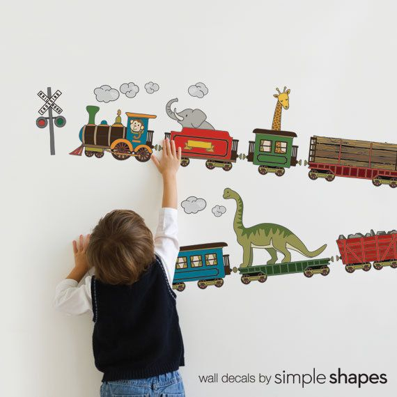 Animal Train Peel And Stick Wall Sticker Wall Stickers
