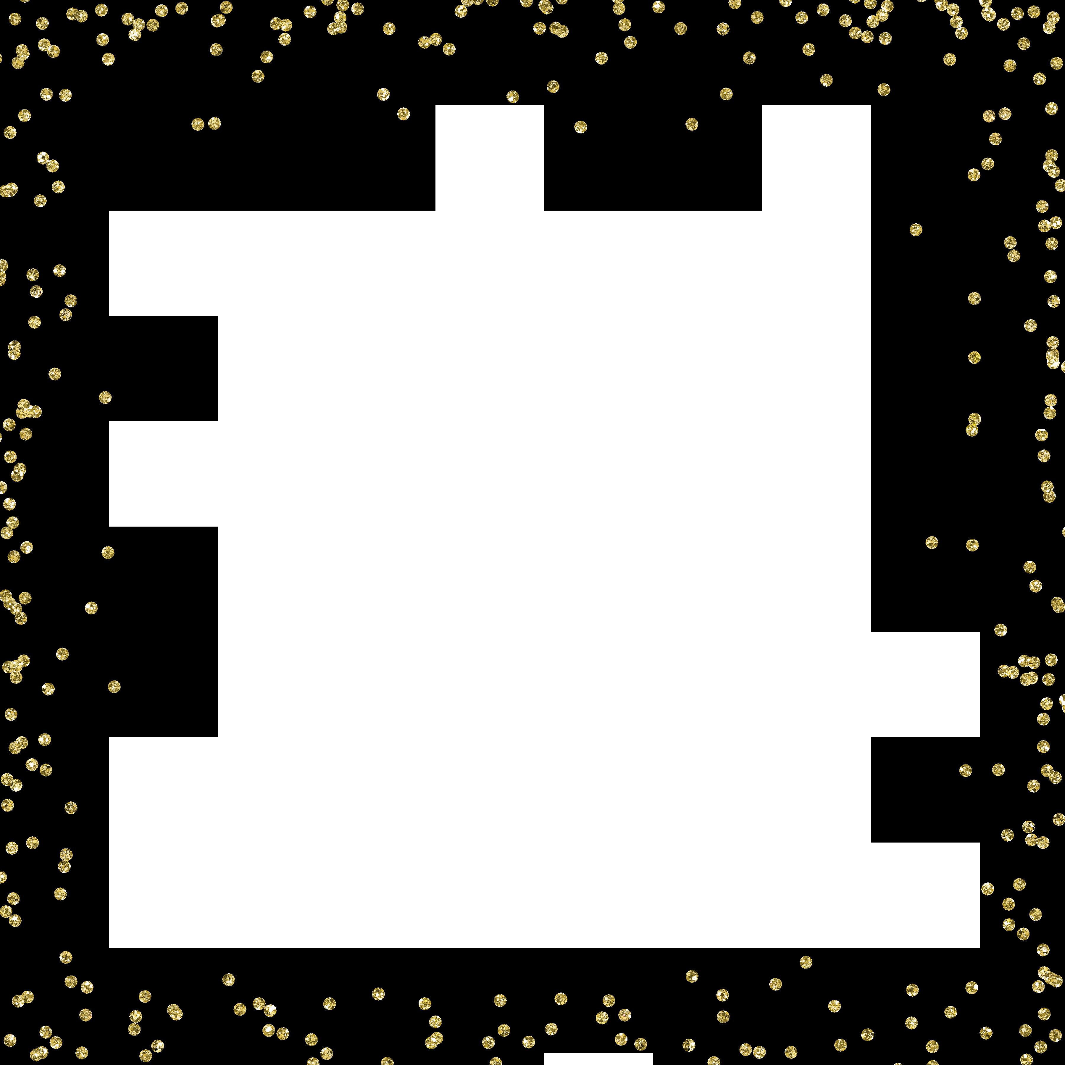 Gold Glitter Border Gold Border Border Templates Invitation Frames