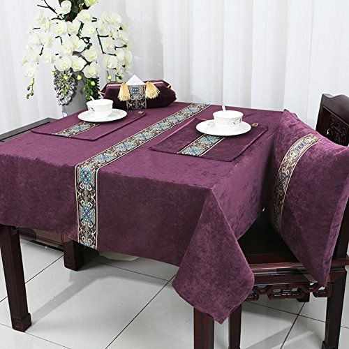 Dining Table Fabrics Set Tea Table Tablecloth Table Mat Burn Proof