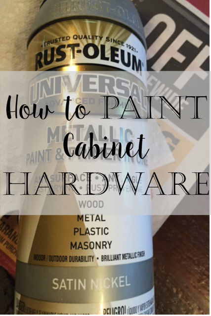 Charm Bracelet Diva {at Home}: How to Spray Paint Cabinet Hardware ...
