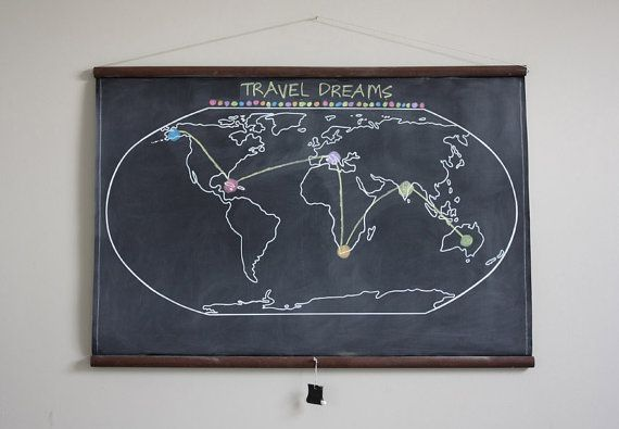 Chalkboard world map large size travel world map large chalkboard world map large size travel by dirtsastudio gumiabroncs Image collections