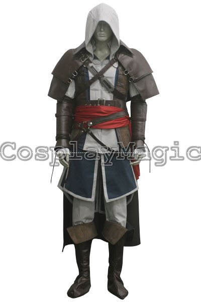 Assassin's Creed IV: Black Flag Edward Kenway Pirate Cloak Cosplay Costumes