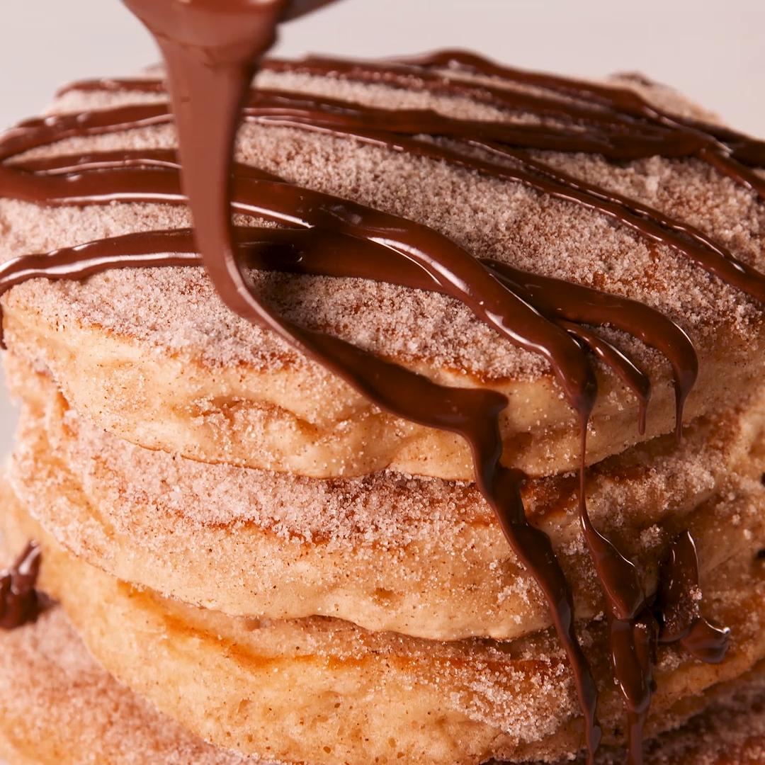 Churro Pancakes #brownsugar