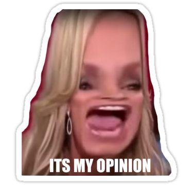 'Its my opinion' Sticker by lucianaruiz