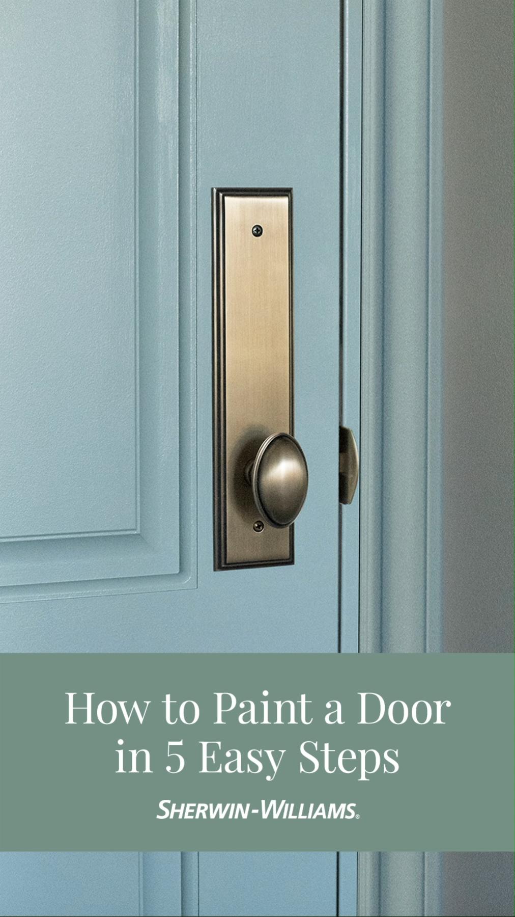 How to Paint a Door in Five Easy Steps