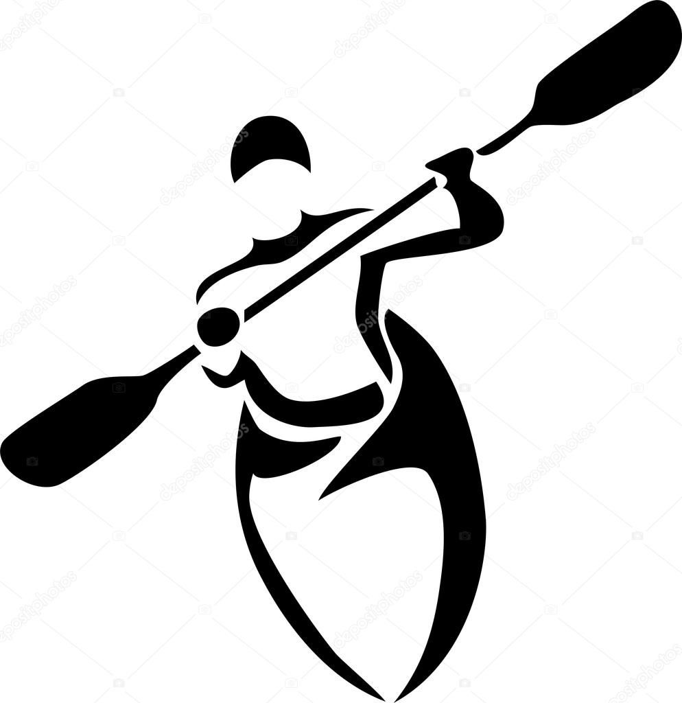 Found On Bing From Depositphotos Com Kayak Art Silhouette Cameo Crafts Kayaking