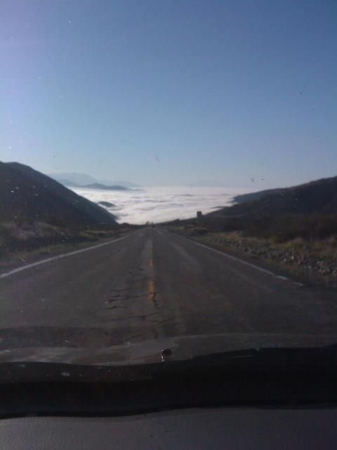 Headed into the clouds from Wrightwood, CA   Beauty!