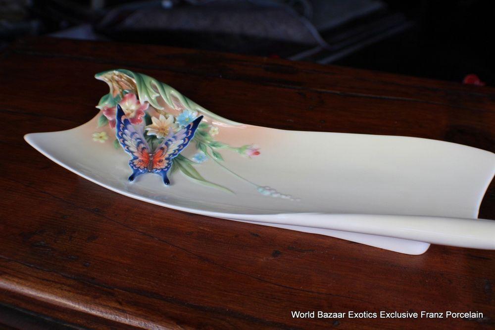 FZ01837 Franz Porcelain Fluttering Beauty Large plate Spectacular