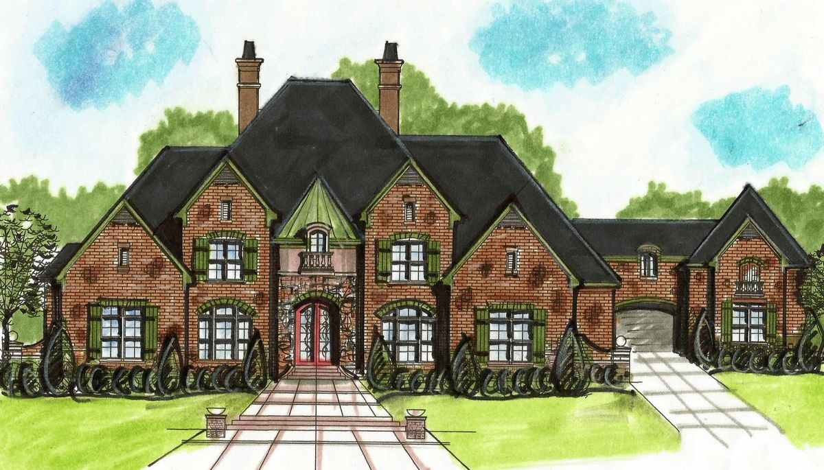 Plan 13499by European House Plan With Porte Cochere Cottage House Plans Cottage House Designs European House