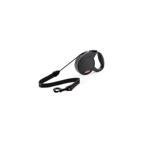 Classic Black Extending Dog Lead by Flexi ($12) ❤ liked on Polyvore featuring pets